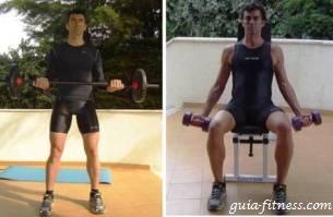 Treino corpo total-treino força-treino biceps-curl biceps