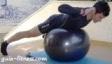 extensão lombar em fitball